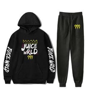Conjuntos de Juice Rapper WRLD Homens transporte da gota Hoodies + calças Harajuku Two Piece Set Esporte Suits Casual Moletons Treino Sportswear