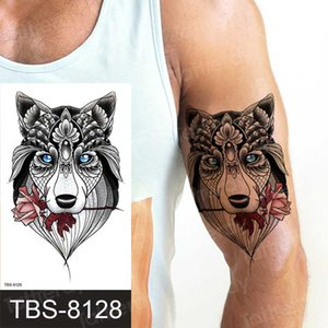 tattoo sleeves for men wolf temporary tattoos tiger animals sexy fake waterproof mens shoulder tattoos arm body art 2020 new