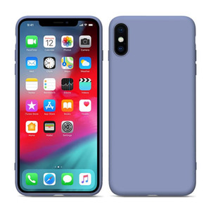 Quality Liquid Silicone Case for iPhone 11 Xs Max Xr X 8 7 6 Gel Rubber Shockproof Phone Cover Full Designer Phone Case