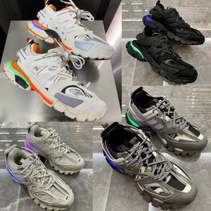 فاخر مصمم أحذية رجالية المسار المدرب الإصدار 3.0 تيس S باريس الثلاثي S احذية وبالنسبة للنساء وحيد LED مع 11 أضواء اللون