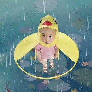 Kids Raincoat Baby Rain Coats Cover Creative UFO Rain Poncho Funny Raincoat Umbrella Poncho Hands Free Rainwear Waterproof Rain