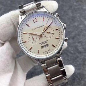 مشاهدة الرجال الفاخرة المشهورة IW 371446 Portuguese 7 pilot series mechanical automatic stainless steel srab multi-function high-quali