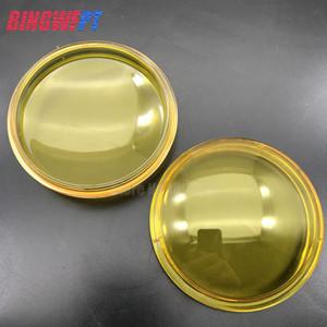 2x rond diamètre diamètre 90mm feux de brouillard lampes jaune anti-brouillard en verre trempé pour Nissan Pathfinder Qashqai Armada Pixo D40 micro
