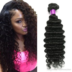 Brazilian Deep Wave Virgin Hair Brazilian Hair Bundles 4pcs lot100% Curly Virgin Hair Factory Selling Cheap Deep Wave Curly Weave Online