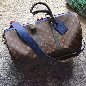 Sacs de voyage Les vrais hommes sac en cuir pour homme en cuir véritable Keepall 45 Bandoulière sac Boston pour homme