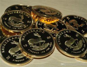 B 1967에서 2016 사이 남아프리카 공화국 크루거 랜드 동전 1온스 도금 24K 골드 동전 동전 컬렉션 선물 금속 공예