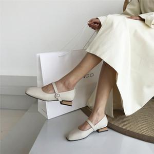 Heißer Verkauf-Crystal2019 Mary Jibaida Jane einzelner Schuh-Leder-Schuh-Frauen-Temperament Han Feng Chic weich.
