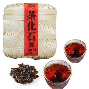 Горячие продажи 500 г приготовленный Пуэр чай Юньнань Пуэр чай окаменелости клейкий рис ароматный ручной бамбук корзина для подарка