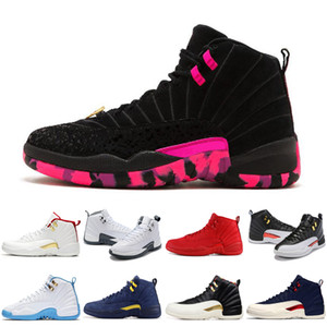 Hot 12 12 s Homens tênis de basquete OV gripe branca jogo DOERNBECHER Ginásio Vermelho FIBA Táxi Reverso Winterized Mens novos Calçados Esportivos Sapatilhas Formadores