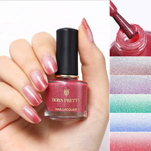 BORN PRETTY 6ml Thermal Nail Polish Shimmer Peel Off Temperature Color Changing Design Nail Art Manicure Water-based