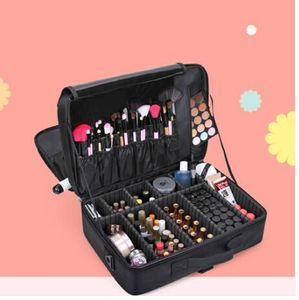 ¡¡¡Ventas!!! Ventas al por mayor 2019 de alta calidad profesional de maquillaje vacío organizador de cosméticos estuche de viaje de gran capacidad bolsa de almacenamiento maletas