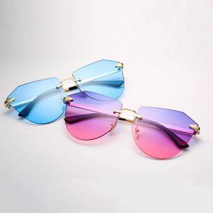 السهم بدون إطار الذهب النظارات الشمسية أزياء الأطفال المستقطبة نظارات معدنية السهم بدون إطار السهم بدون إطار عرضي ليتل R8dQo Bwkf