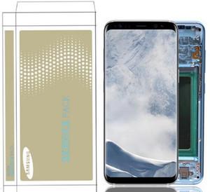 Orijinal Yanık-Gölge LCD Montaj Replacment için Samsung Galaxy S8 G950F G950U S8 Artı G955 G955F Dokunmatik Ekran Sayısallaştırıcı LCD Meclisi