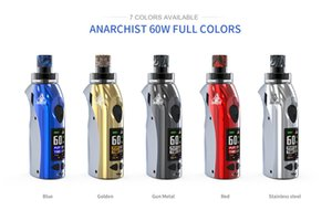 Authhentic KANGVAPE ANARCHIST 60W POD KIT Adjustable Wattage Compact Pod System with OLED Display 5 Colors 100% Original