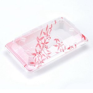 Japanese Style Sushi Packaging Boxes Printing Disposable Upscale Packed Takeout Food Container Free Shipping Wholesale ZA5322