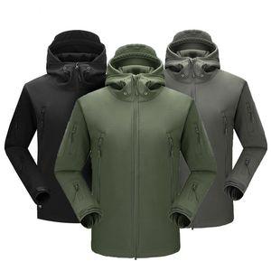 Yeni Marka Giyim Sonbahar Kış Erkek Ordu Kamuflaj Polar Ceket Ordu Taktik Giyim Multicam Erkek Kamuflaj Windbreakers