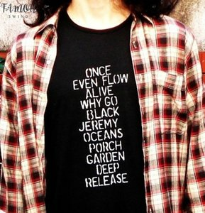 2020 New Casual Short Sleeved Black T Shirts Pearl Jam Ten Tops Unisex Men Women Grunge Rock Tees Plus Size Tumblr