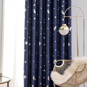 Window Blinds Avvolgibili Camera tende oscuranti-scuro stampato tende del soggiorno vano isolato Window Shades Navy
