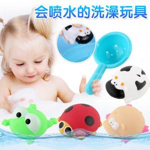아기 목욕 장난감 플라스틱 물을 수있는 물을 냄비 비치 장난감 놀이 모래 장난감 어린이 놀이 입 미니 개구리 해바라기 꽃 주전자