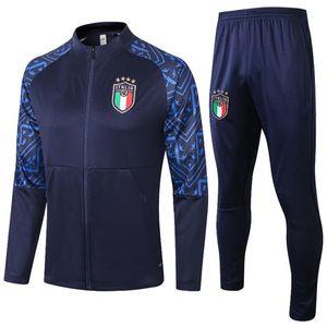 Top 2020 2021 Itália Europeu Adulto Formação Terno 20 21 Tracksuit Italiano Insigne Vertatti Marchisio Ghiellini Chandal Jacket Tracksuit