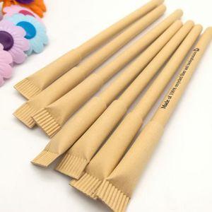 10 PC / Creativa kraft papel pluma plumas conjunto bolígrafo bucle Suministros de oficina para la escuela linda para bolígrafos