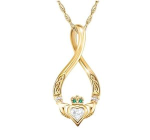 Explosive heart-shaped Kyle Klada guardian heart pendant European and American fashion gold-plated necklace