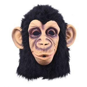 . Divertente Monkey Head lattice maschera intera maschera per adulti e traspirante travestimento di Halloween partito del vestito operato Cosplay Looks SH190922 reale