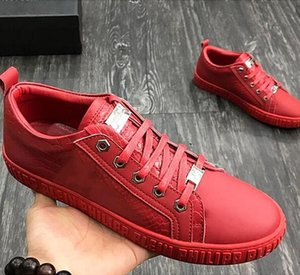 2020 men's high-end PI@HILP PI@IE leather casual shoes fashion low to help wild men's sports shoes, with the original packaging shoes u5