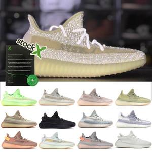 Tasarımcı Ayakkabı Bayan Erkek Koşu Sneakers Citrin Bulut Beyaz Yansıtıcı Spor Ayakkabı Siyah Beyaz Glow Chaussures Ture Formu Antlia Yansıtıcı