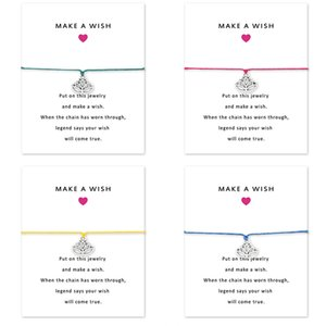 Роскошный дизайнер Йога Лотос Браслеты с подвесками с подарочной картой бесконечности Загадай желание Браслет Для женщин Девушка Мода Поздравительные украшения