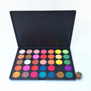 Toptan Pigmentli Hiçbir Etiket Makyaj 35 Renk göz farı Paleti Glitter Göz Farı Mat ve Pırıltılı Göz farı Paleti Makyaj Paletleri