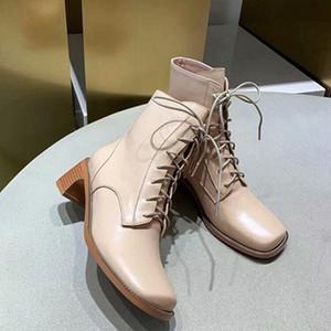 حار بيع حسنا السيدات قصيرة أحذية 2019 مصمم S المرأة S أحذية عالية الكعب للمرأة S أحذية مع ربط الحذاء حتى أحذية جلدية أزياء
