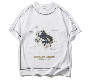 2020 summer new NASA astronaut extraordinary printing short-sleeved T-shirt male tide brand loose hip-hop couple t-shirt