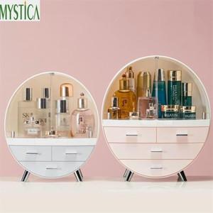 Home Moda cassetto trucco Storage Box Bagno Pennello Lipstick supporto da tavolino acrilico cosmetici gioielli Skin Care Organizzatore Rack