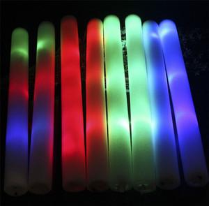 LED Renkli çubuklar köpük sopa, hafif tezahürat parıltı köpüğü sopa konser Işık sopa yanıp sönen köpük sopa açtı