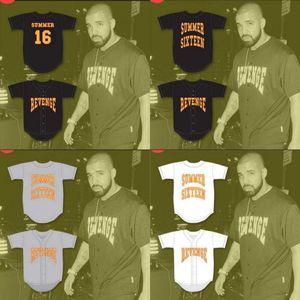 16 Drake Summer Revenge Baseball Jersey Filme Personalizado Personalizado Frete Grátis Frete Grátis Baseball Jerseys Mix Ordem