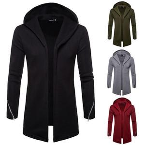 남자의 겨울 슬림 후드 스웨터 후드 열기 스티치 일반 까마귀 운동복 코트 재킷 착실히 보내다 운동복