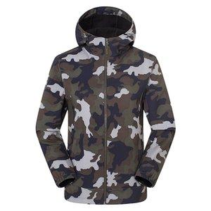 Mens Camouflage jacket men Winter Soft Windproof And Waterproof Hooded Coat Jacket Men hoodie Plus Size