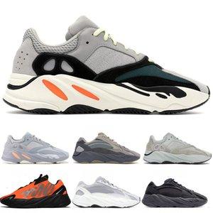2019 700 Wave Runner Сиреневый Kanye West Wave Статическая обувь Мужчины Женщины Черный Белый Синий Серый Спорт Дизайнер Атлетика тапки