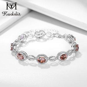 Monili della catena Kuololit zultanite Gemstone Bracciali per le donne 925 Silver Charm diasporo braccialetto di nozze Fine Jewelry