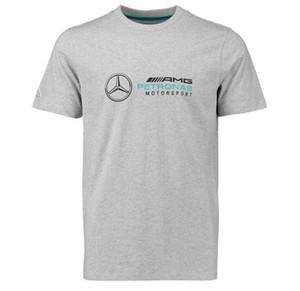 F1 Mercedes-Benz AMG 2019-Thema-T-Shirt Rundhals Kurzarm T-Rennanzug