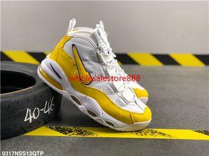 Nike Air More Uptempo 96 QS hococal 2020 New 96 QS Olímpico Varsity Maroon Mais Shoes Mens Basketball 3M Scottie Pippen uptempo Chicago treinadores desportivos Sneakers Tamanho 13