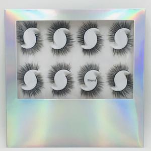 Faux Mink Lashes Natural Silk New Moda 12 pares 3D Vison Falso composição eyelashes Extensão Ferramenta Mink cabelo cílios postiços