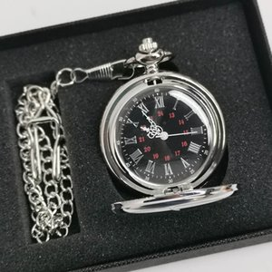 Klasik Gümüş / Bronz / siyah / altın Polonyalı Smooth Kuvars Pocket Watch Takı Alaşım Zincir kolye kolye Zinciri Man Kadın Hediye
