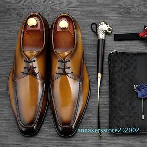 MYCOLEN 2018 Luxury Fashion Men Shoes Minimalist Design Casual Derby Shoes For Men Pointed Toe Dress Wedding s02