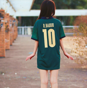 2020 2021 Femmes Barella Senci Insigne Jersey Soccer Totti 20 Italie Away 3ème Renaissance Chiellini Belotti Italie Chemises de football filles