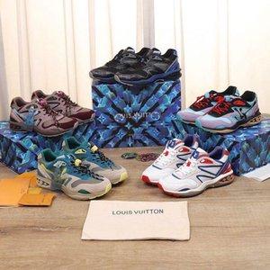 20 New platform casual shoes triple black multi color velvet upper deep mens women arena trainer sneakers