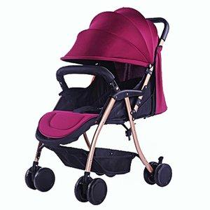 Free shippingBaby Stroller Lightweight Portable Folding Baby Trolley Newborn Baby Carriage Lie Flat Baby Umbrella Car Pushchair Wheelchair