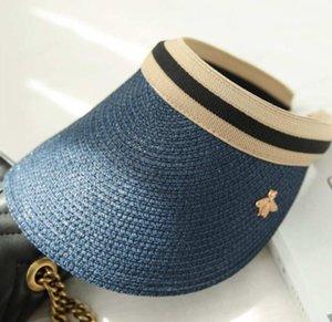 Venda Hot Hat Verão Com Bee Pattern Mulher viseiras Casquettes Caps Designer Luxo Cap chapéus da praia Hot Top Beanie 5 cores opcionais