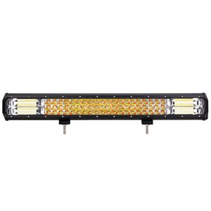 Winsun DY- 093- WA- 324W- C 22 Inch Three Row LED Spot Work Strip Light Tow A Harness of Yellow and White Led 22-inch Strip Lamps